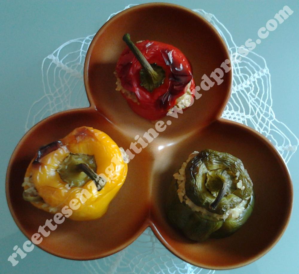 Ricetta senza glutine per peperoni ripieni al forno senza glutine