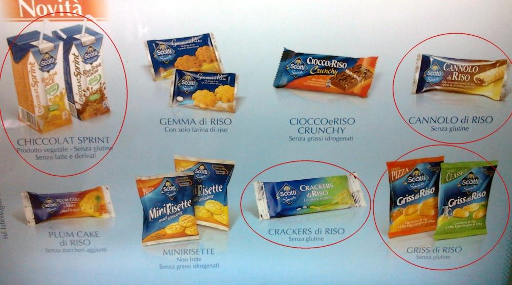 Bevande e snack Scotti senza glutine per distributori automatici