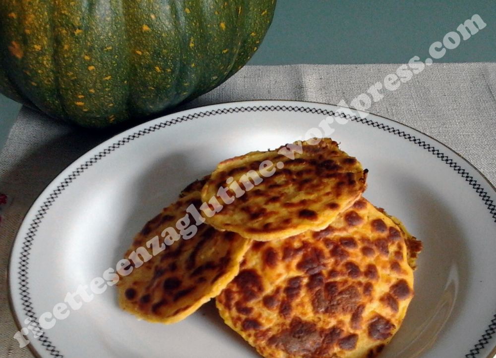 Ricetta salata senza glutine per pancakes ceci e zucca