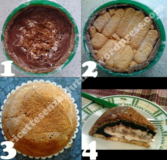 Ricetta Zuccotto Panna e Cioccolato senza Glutine