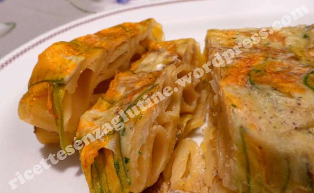 Ricetta senza glutine per timballo di pasta con fiori di zucca
