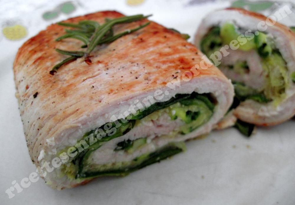 Ricetta senza glutine rollè tacchino e zucchine senza grassi per celiaci
