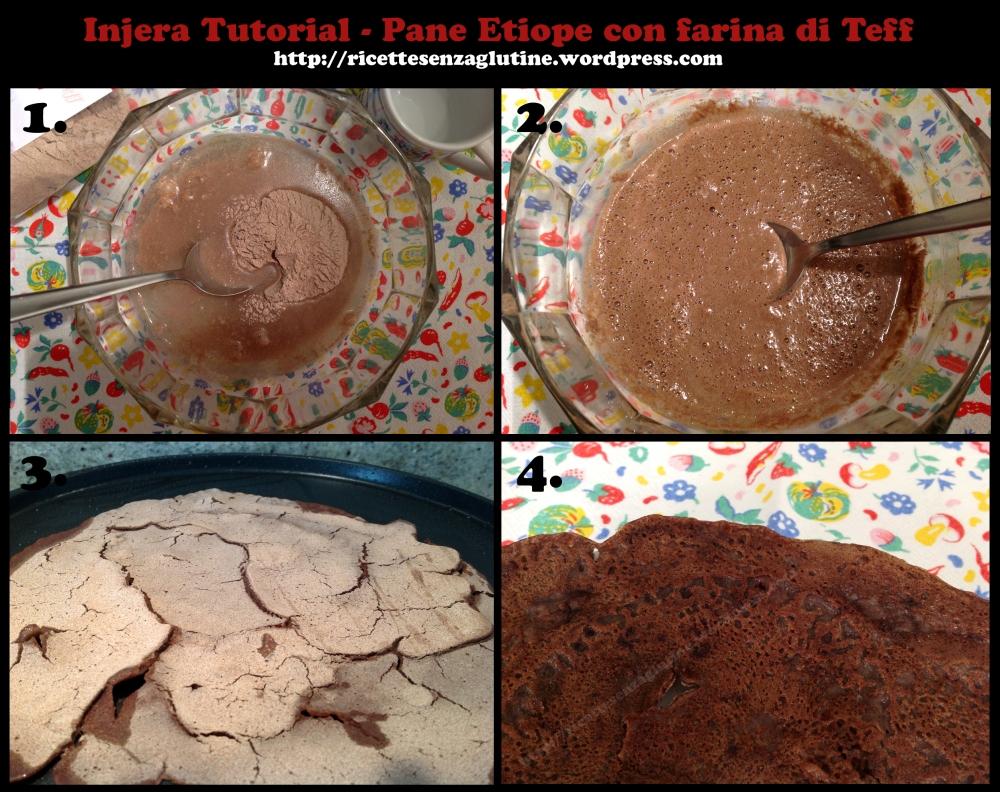 Injera Tutorial pane piatto etiope con farina di teff