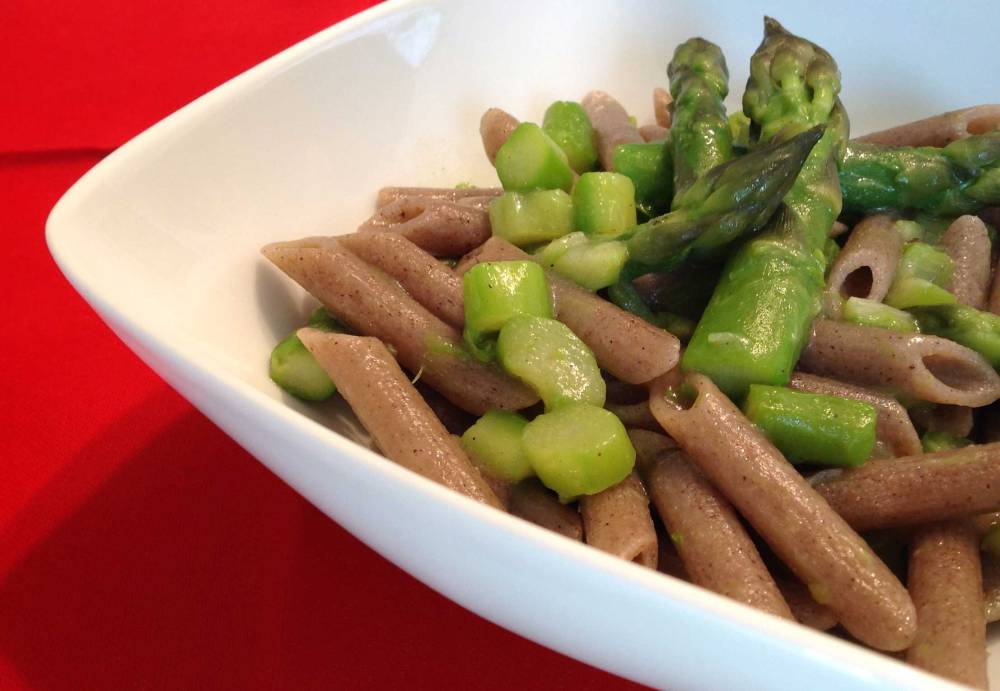 Penne Piccanti agli Asparagi Verdi senza Glutine
