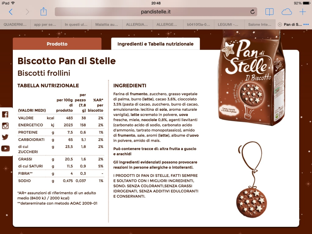 Biscotti Pan di stelle ingredienti