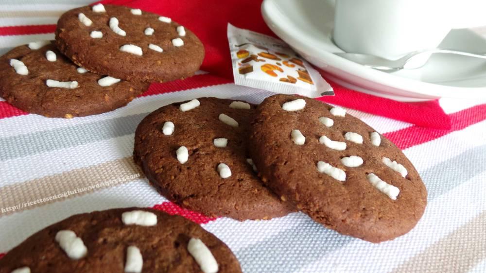 Biscotti Pan di Stelle senza glutine e lievito