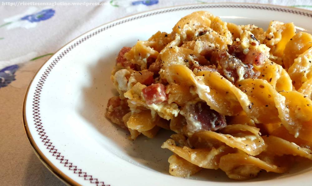Pasta alla Carbonara senza glutine