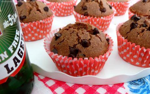 Muffin al Cioccolato e Birra senza Glutine Burro Latte Lievito