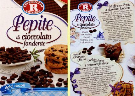 Rebecchi pepite di cioccolato senza glutine TuttoFood 2015