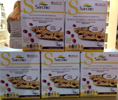 Sarchio snack quinoa e mirtilli rossi senza glutine TuttoFood 2015