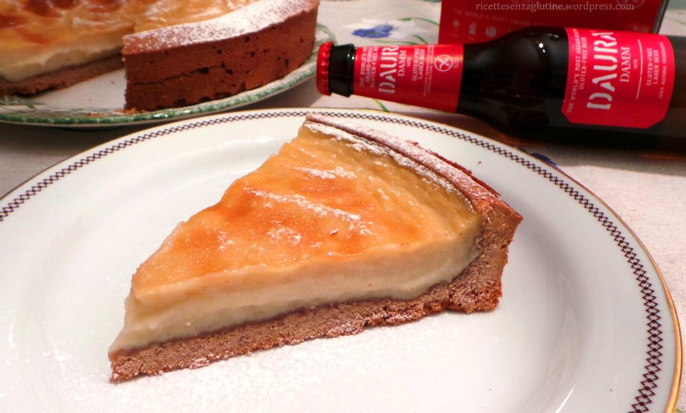Torta con crema alla birra chiara senza glutine Daura Damm