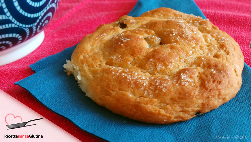 Girelle di pan brioche vegan senza glutine