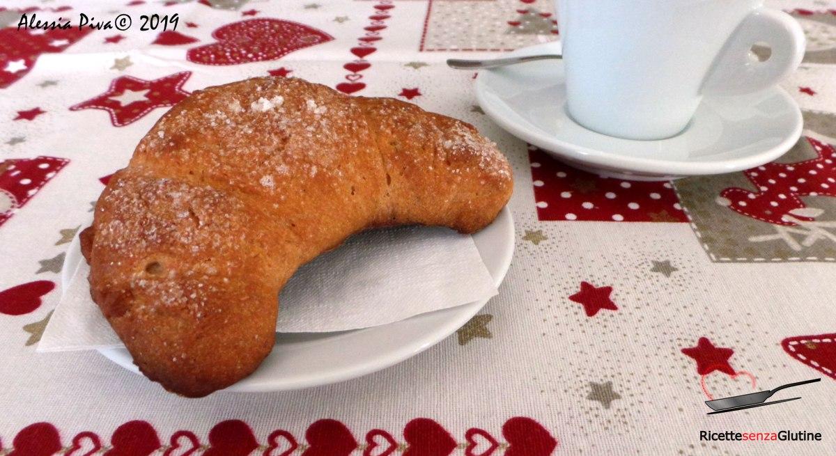 Ricetta Brioches Senza Glutine.Cornetti Brioches Senza Glutine Latte E Uova Vegan Ricette Senza Glutine